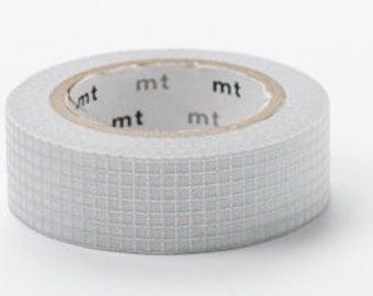 mt masking tape - silver line - grid