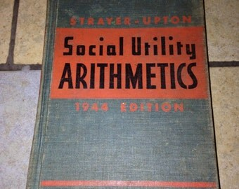 Old Children's Arithmetic Text Book