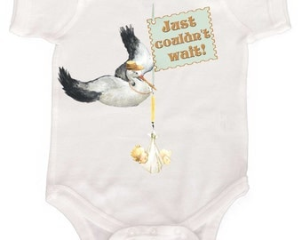 Funny Preemie Baby Bodysuit Boy or Girl  by Mumsy Goose Newborn Layette Great Baby Shower Gift