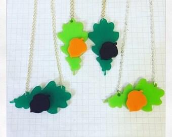 Oak Leaf and Acorn Necklace