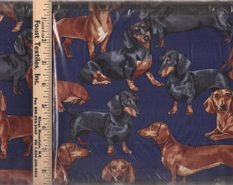 Dachshund Dog Fabric by Timeless Treasures (by the yard)