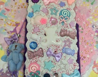 Purple Decoden Iphone 6 or 6s Case with Charm and Dust Plug (2)