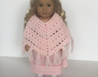 Crochet PATTERN Doll Poncho - American Girl Doll - Doll Poncho - Doll Clothes