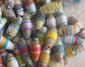 Mini colorful NEW batch of paper beads, jewelry making, garlands, mixed media crafts, 30 beads