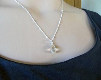 Sunstone Briolette Pendant in Sterling Silver
