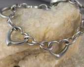 Small Open Heart Stainless Steel Bracelet