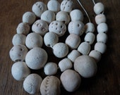 "Handmade Rustic Ceramic Beads - 16"" strand - SALE"