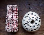 Artisan made large ceramic beads - set of 2 - XXL
