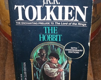 The Hobbit by J.R.R. Tolkien Vintage Paperback Book