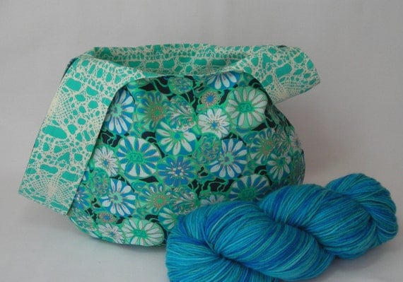 Knitting Project Bag - Japanese Knot bag - Crochet ...
