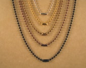 30 Inch 1.5 mm and 2.4 mm Set of 2 Ball Chain Necklaces in Silver, Sun Gold, Antique Gold, Antique Copper or Black