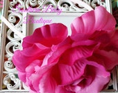 INVENTORY BLOWOUT SALE---Huge Rose Flower Headband---Fuchsia and Pink