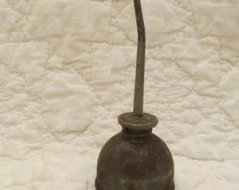 Vintage small oil can with curved spout