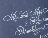 Calligraphy Wedding Envelope Addressing - Discount Wedding Etsy Special - Rook Script