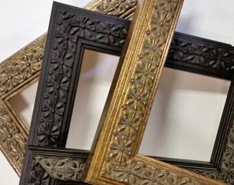 14 x 18 20 x 24 wood picture frames ornate vintage traditional gold silver black custom. Black Bedroom Furniture Sets. Home Design Ideas