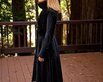 Handmade Black Velvet Pirate Coat