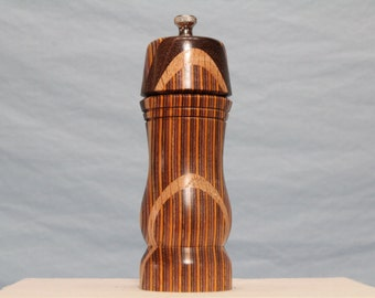 7 Inch COLORWOOD & HARDWOOD PEPPERMILL Number 1392