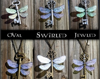 ON SALE Flying Winged Key Themed Necklace