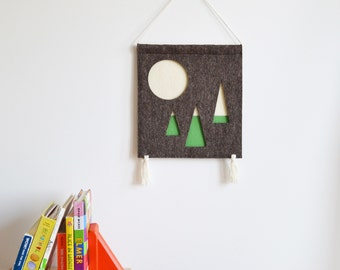 Full Moon Over the Forest - Children's Wall Hanging