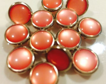 24 Peach Cowgirl Snaps Pearl Prong Western Snaps