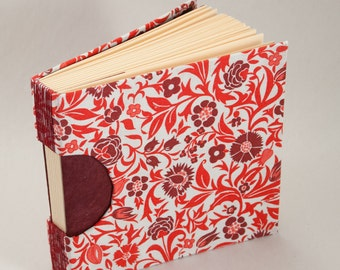 Floral, Red and White, Square Guestbook, Journal, or Sketchbook