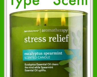 STRESS RELiEF BBW Type* Scented Soy Wax Melts Tarts - Fresh Eucalyptus Spearmint - Aromatherapy - Relaxing - Highly Scented - Handmade USA