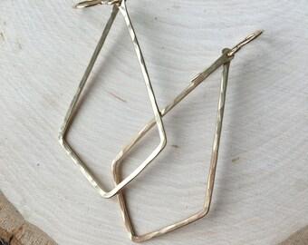 Hammered Kite Earrings