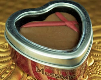 Raspberry Tease MASSAGE TRUFFLE organic edible chocolate body balm