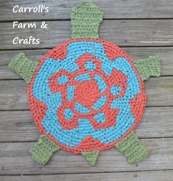 Items Similar To Custom Order Turtle-Shaped Amish-Knot Rag