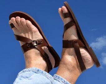 Greek handmade Roman leather sandals for men - NEW STYLE