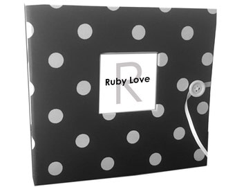 BABY BOOK | Black Polka Dot Album - Ruby Love Modern Baby Memory Book