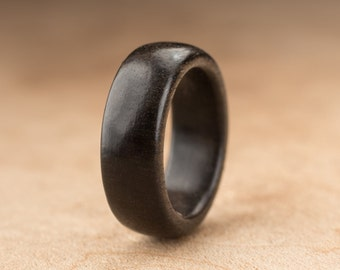 Size 2.75 - Ebony Wood Ring No. 199