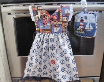 Lighthouse Kitchen Towel Dress