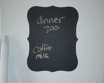 SALE- Large Chalkboard Plaque Vinyl Wall Decal