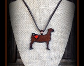 Rustic Metal Boer Goat  With Leather Cord