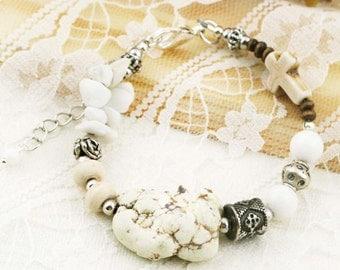 Calmness boho bracelet (BB) - magnesite