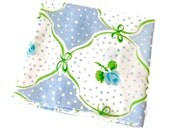 1 Pillowcase Lady Pepperell Green Bows Blue Roses