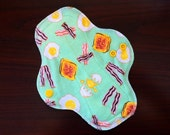 "8"" Light Flow Reusable Cloth Pad Liner Pair ~ Bacon 'N Eggs Knit Cotton ~ by Talulah Bean"