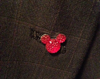 Mouse Ears Lapel Pins for themed Wedding Groomsmen Tietac or Sweater Scatter Pin