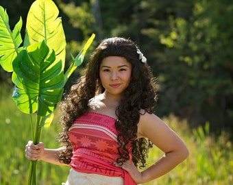 Moana Adult Costume Wig Budget Version - A True Enchantment Original