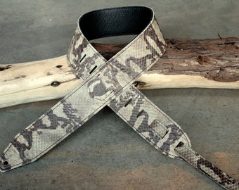Snake Rattle & Roll Leather Guitar Strap