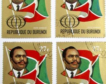 4 postage stamps from Burundi