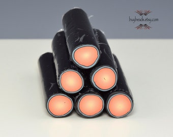 Polymer Clay Bullseye Cane, Peach Pink