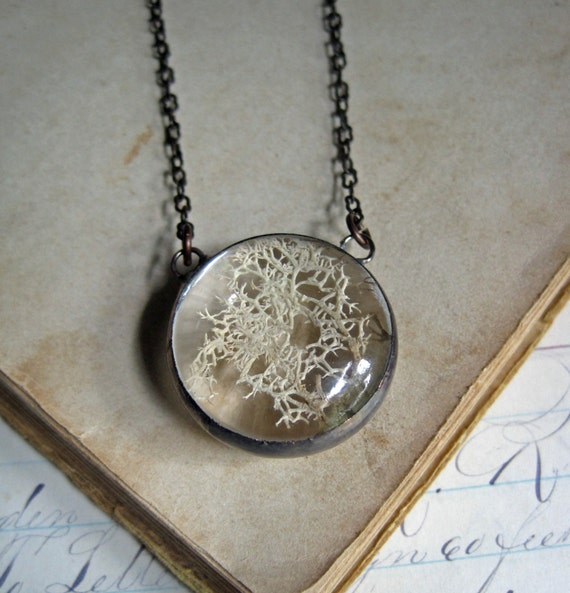 Natural Moss Jewelry, Rustic Woodsy Wedding