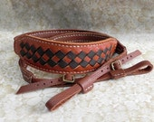 Leather Camera Strap Personalize Leather Camera Strap Artisan Leather camera Strap Woven Style with Tan Color