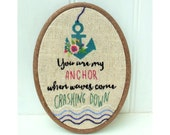You are my Anchor Embroidery Hoop pdf pattern instant download