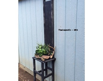 Accent Chair - Primitive Decor - Rustic Chair - Rustic Decor - Floating Shelf - Plant Stand  - CHIC