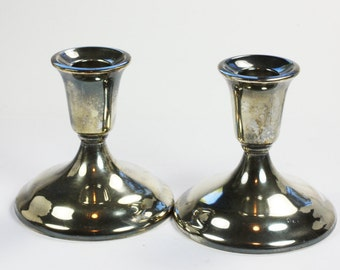 International Silver Candlestick Holders Silverplate Set of Two