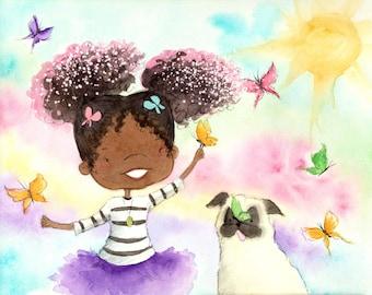 Princess Truly's Magical Curls - Art Print