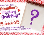 Valentine's Day Mystery Bag of Cards